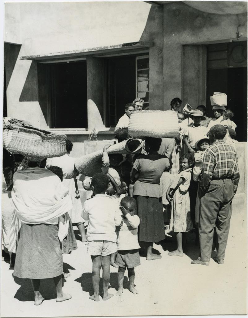 Inondations. Arrivées de réfugiés au foyer