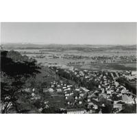 Inondations. Vue de la Haute Ville, le Sud Ouest de la plaine de Tananarive apparaît comme un immense lac