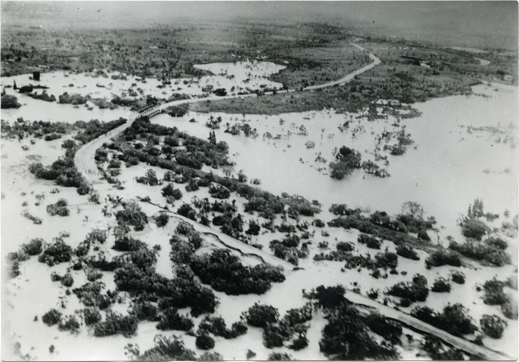 Inondations après le cyclone du 13 janvier 1953