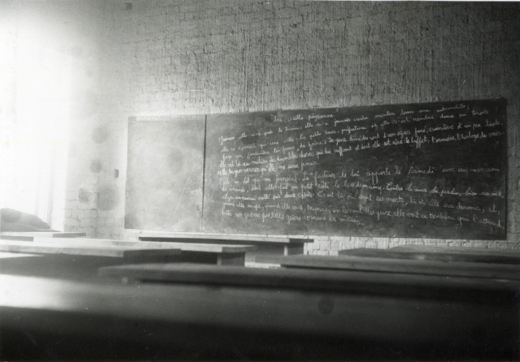 Intérieur d'une salle de cours