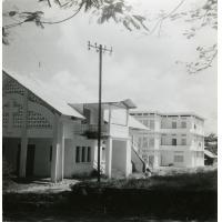 L'ensemble de l'installation de la mission à Libreville