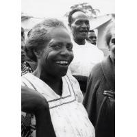 L'épouse du pasteur de Chepenehe, Drume Passa, un des visages de Lifou dans la chorale qui chante pour les délégués pendant les repas