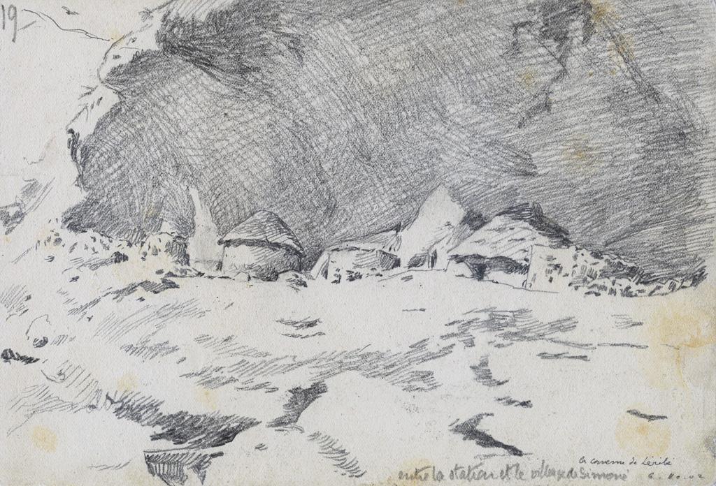La caverne de Leribe, entre la station et le village de Simone