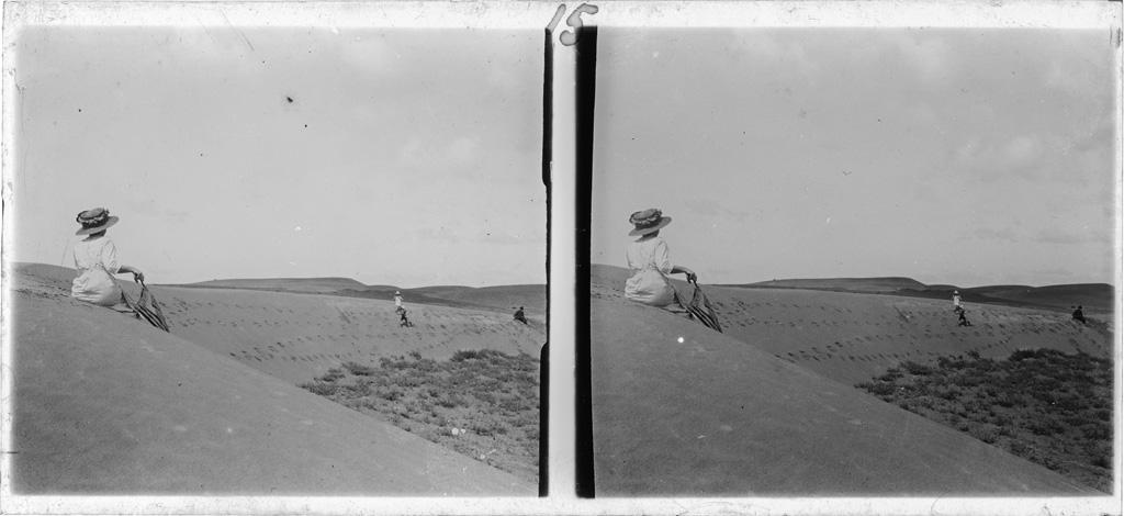 La famille Ellenberger sur les dunes à Thaba-Bossiou