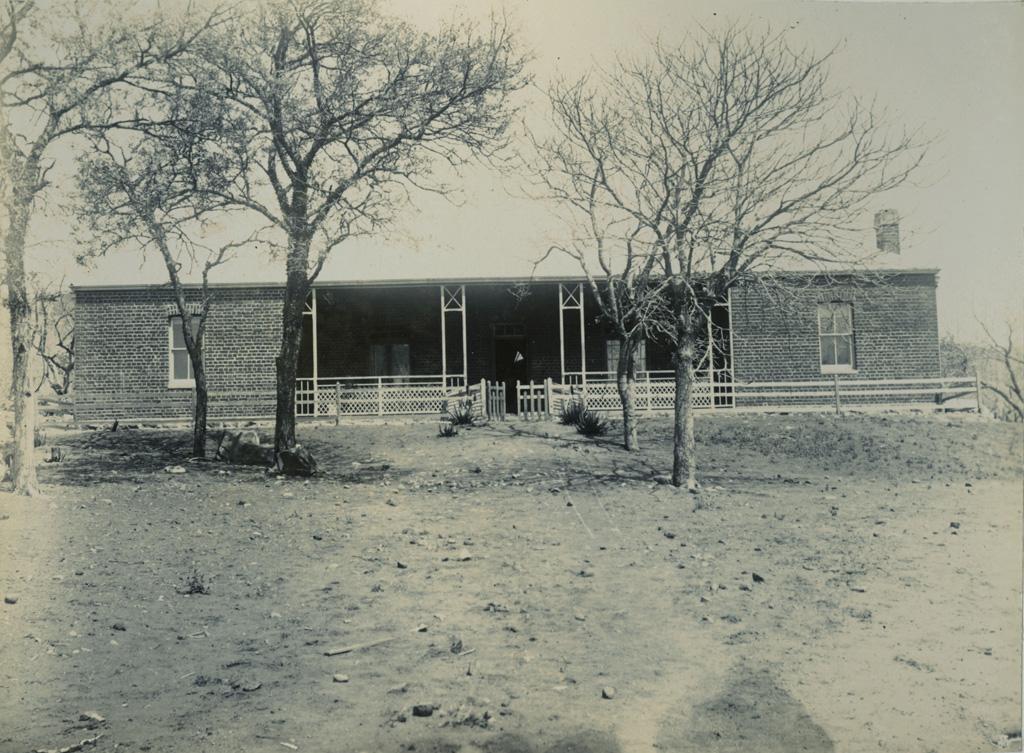 La maison du rev. Willoughby, missionnaire à Palapye