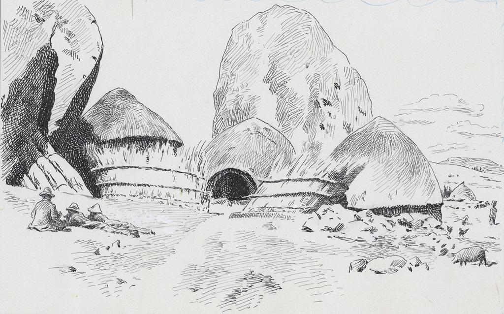 Le coin du village de Simone, village près de Leribe qui est resté païen jusqu'à aujourd'hui (1910), où vivait Mamotenachopo, femme païenne