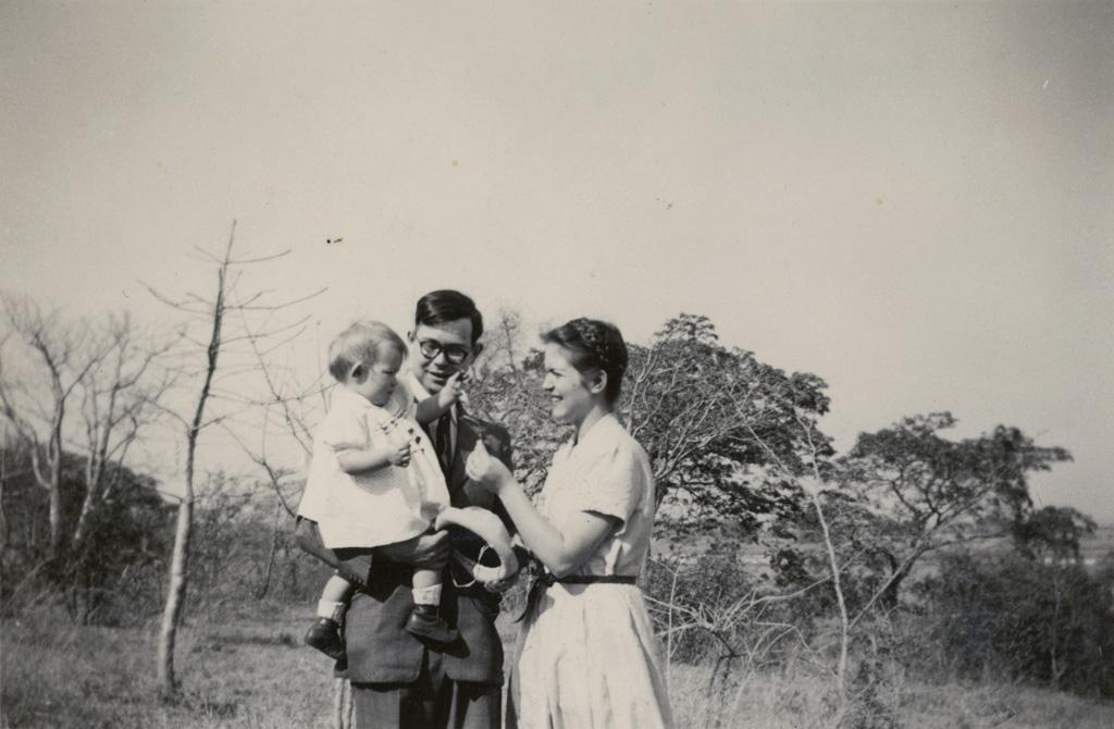 Le missionnaire Blaise Wavre et sa famille
