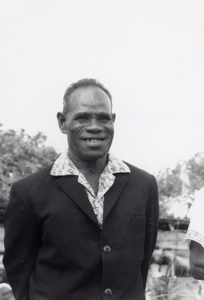 Le pasteur Drume Passa, pasteur de Chépénéhé, Président du conseil régional de Lifou