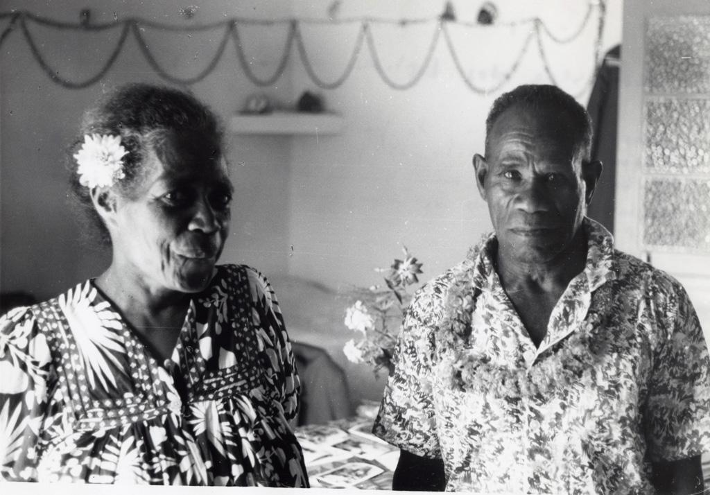 Le pasteur de Chépénéhé, Drume Passa et son épouse, chez eux