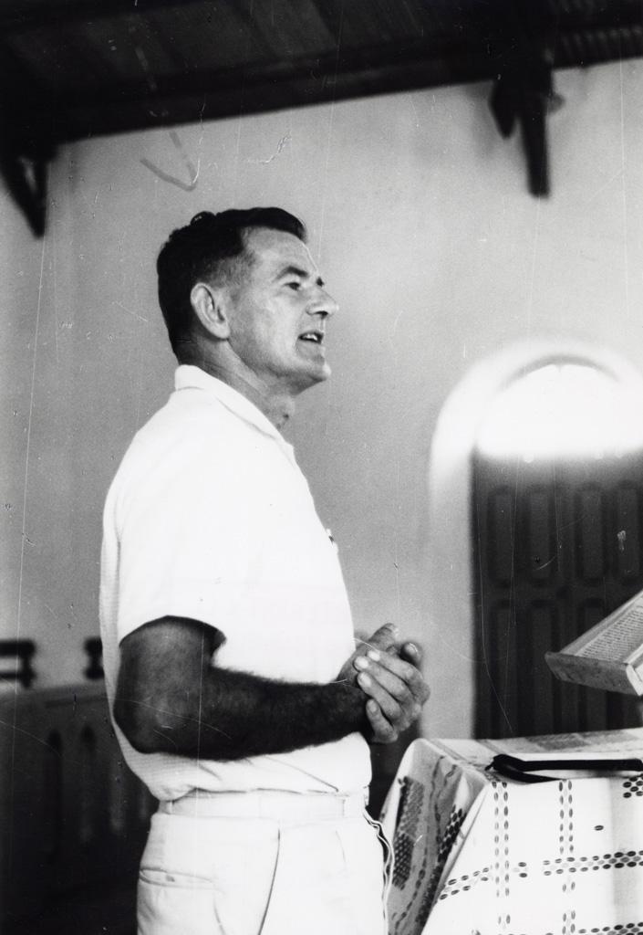 Le pasteur presbytérien Graham Horwell (Nouvelles-Hébrides)