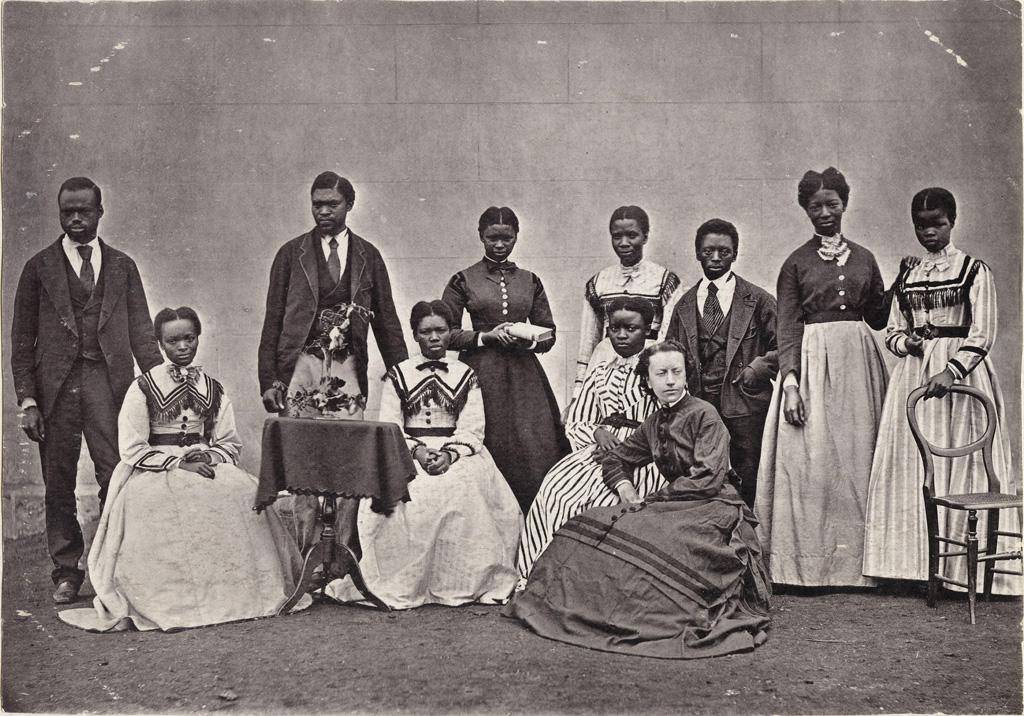 Le personnel de la station missionnaire de Lovedale : les enseignants, les employés du télégraphe, etc.