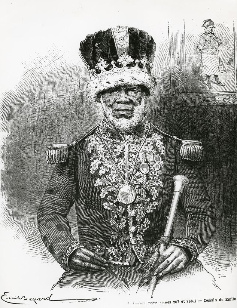 Le roi Denis, dessin d'Emile Bayard d'après une photo M. Houzé de l'Aulnoit