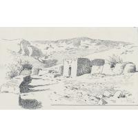 Le village de Leribe ruiné par la guerre de Fusils