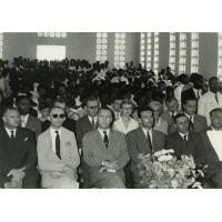 Les officiels lors de l'inauguration de l'Eglise évangélique