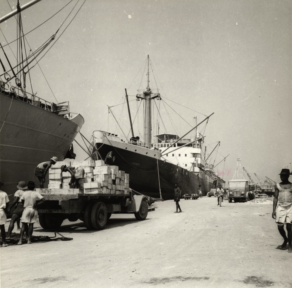 Les quais du port de Douala