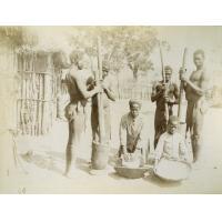 Leshoma, Kila et Lehala, trituration du blé au Lessouto et au Zambèze