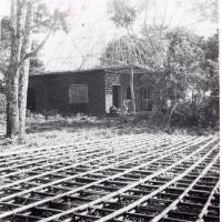 Maison missionnaire en construction à Bagam
