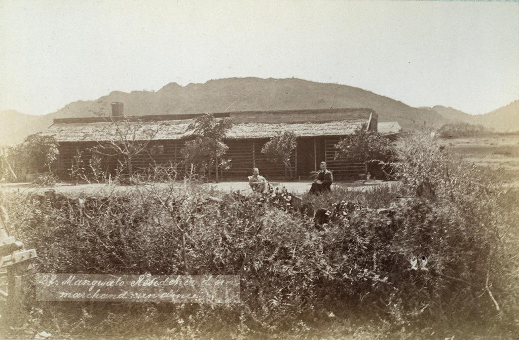 Mangwato, résidence d'un marchand, un ami