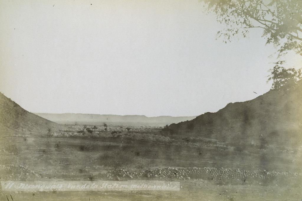 Mangwato, vu de la station missionnaire