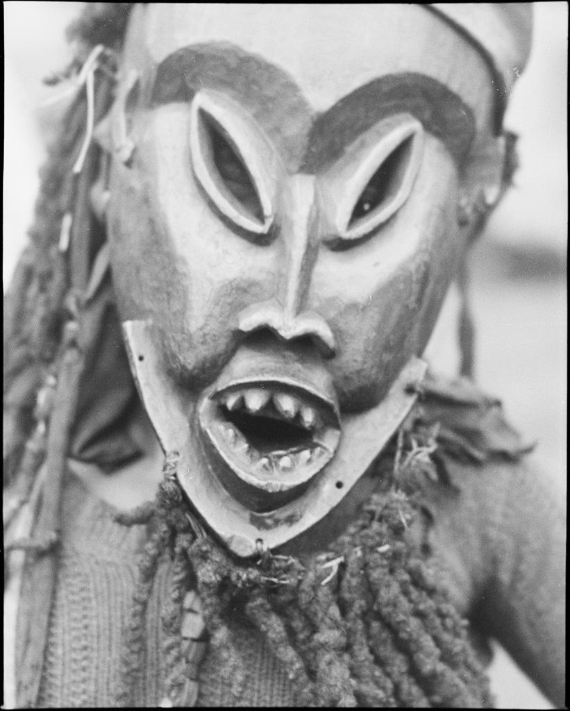 Masque de bois, pour la danse des lalis