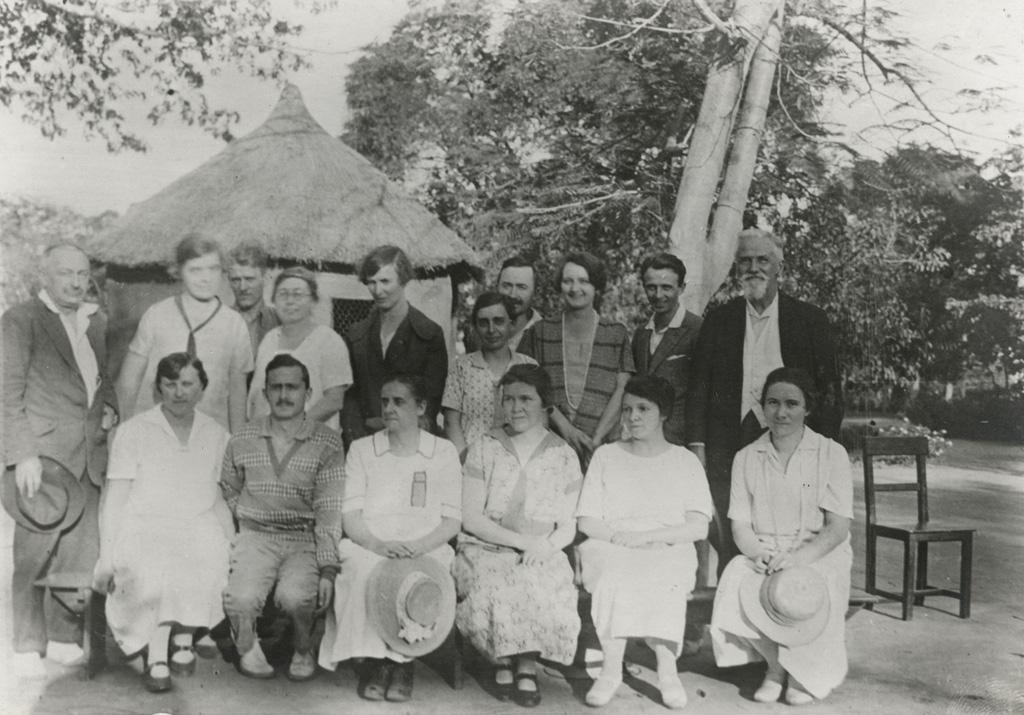 Membres de la conférence missionnaire de 1929, réunis à Séfula