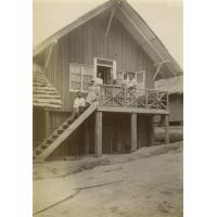 Missionnaires américains à Bolobo (Congo)