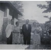 Missionnaires réunis lors du baptême de Jean-Gui Subilia, dont M. et Mme Subilia