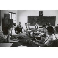 Missionnaires réunis pour la 61ème Conférence missionnaire de 1958 à Séfula
