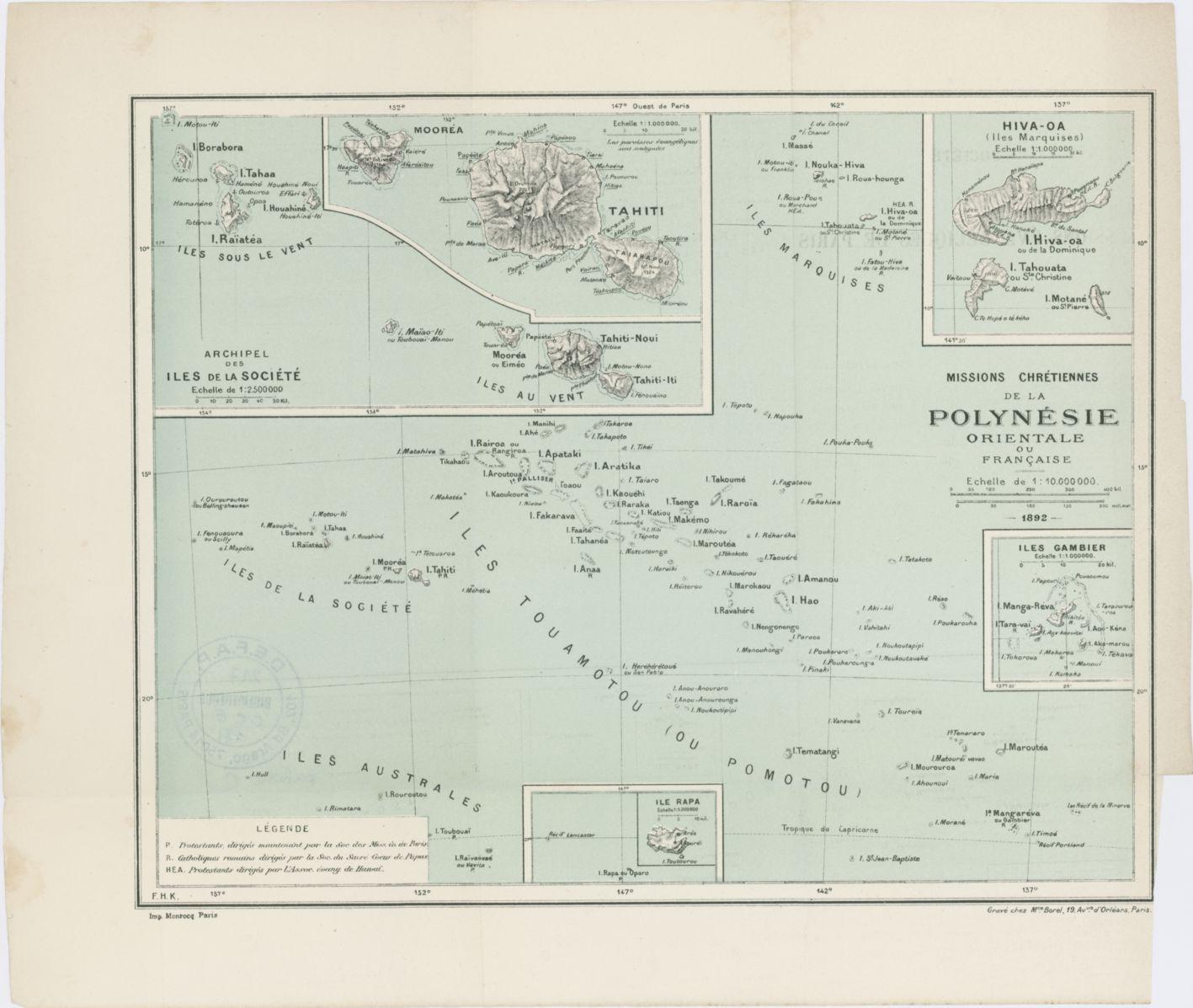 Missions chrétiennes de la Polynésie orientale ou française / Frédéric-Hermann Kruger (1892)