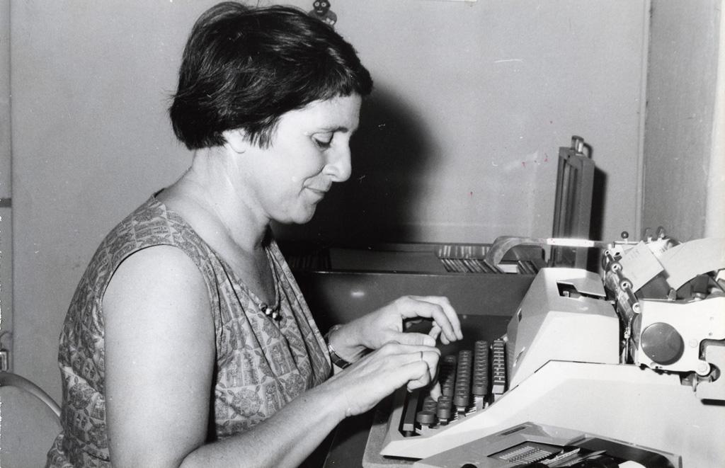 Mme Yves Armand, secrétaire comptable de l'Eglise Evangélique de Nouvelle-Calédonie