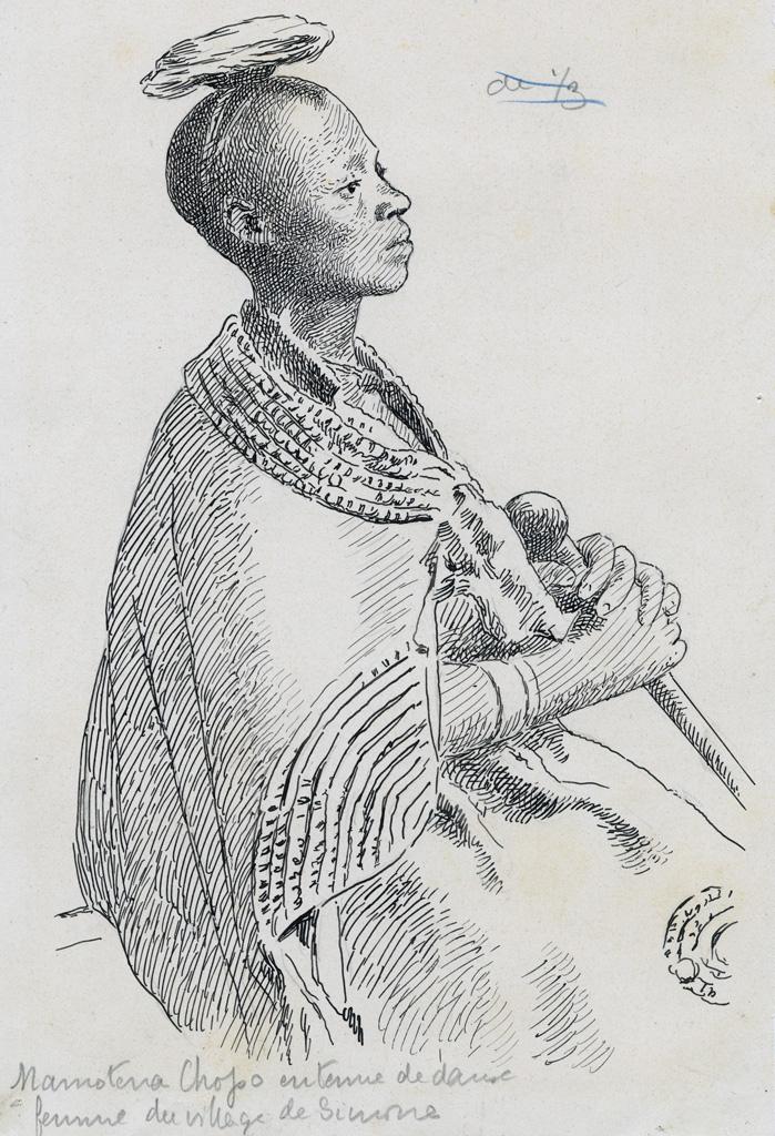 Namotena Chopo, une femme du village de Simone, en tenue de danse