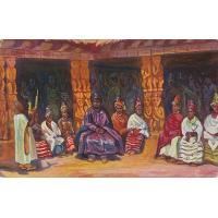 Njoya entouré de ses femmes