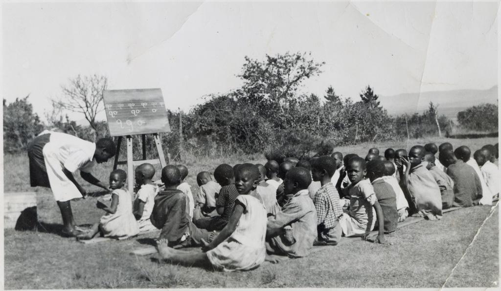 On enseigne l'écriture en plein air