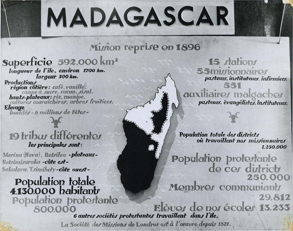 Panneau Madagascar de la SMEP