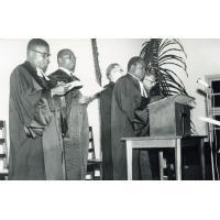 Pendant la séance de rentrée de la faculté de théologie de Yaoundé