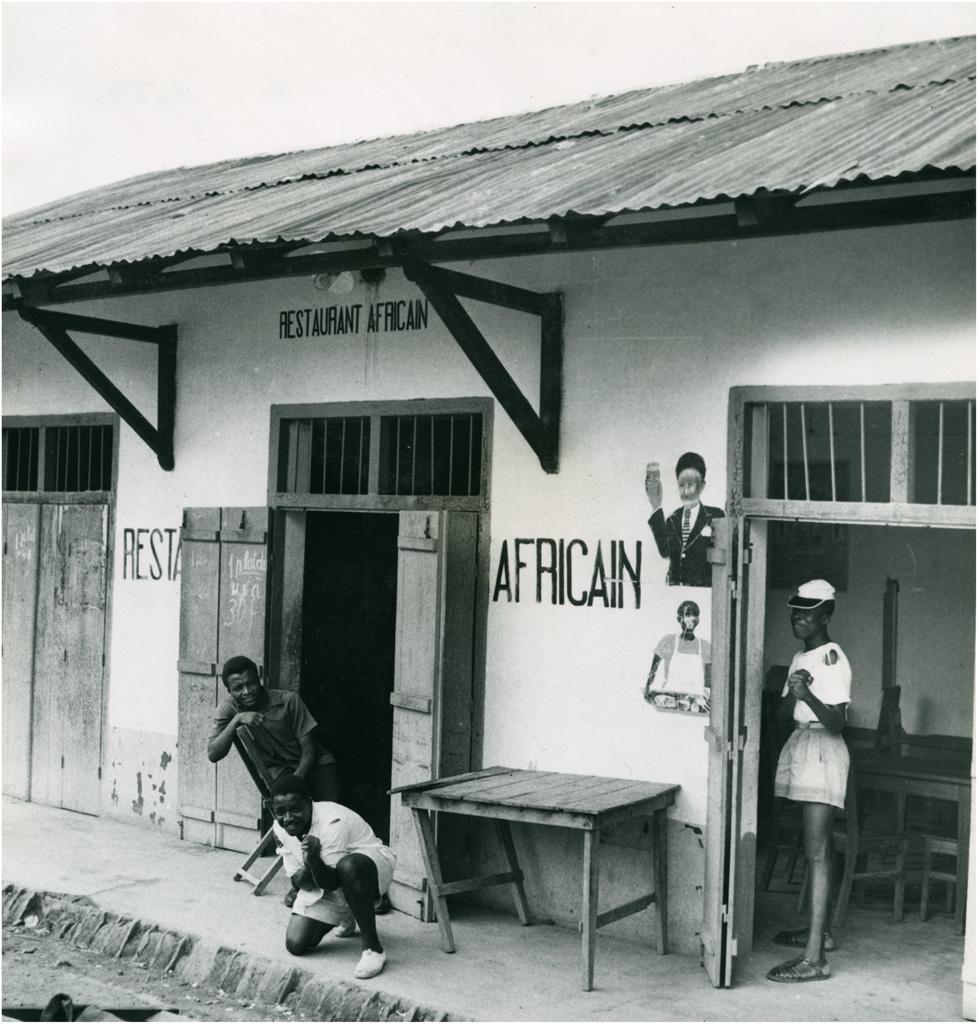 Petit restaurant Africain dans le quartier Haoussa à Yaoundé
