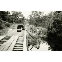 Photo prise du pont du Wolen, corvée d'eau