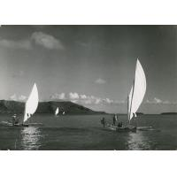 Pirogues à voiles à Bora-Bora