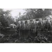 Pont de la Saharenana coupé en février 1973