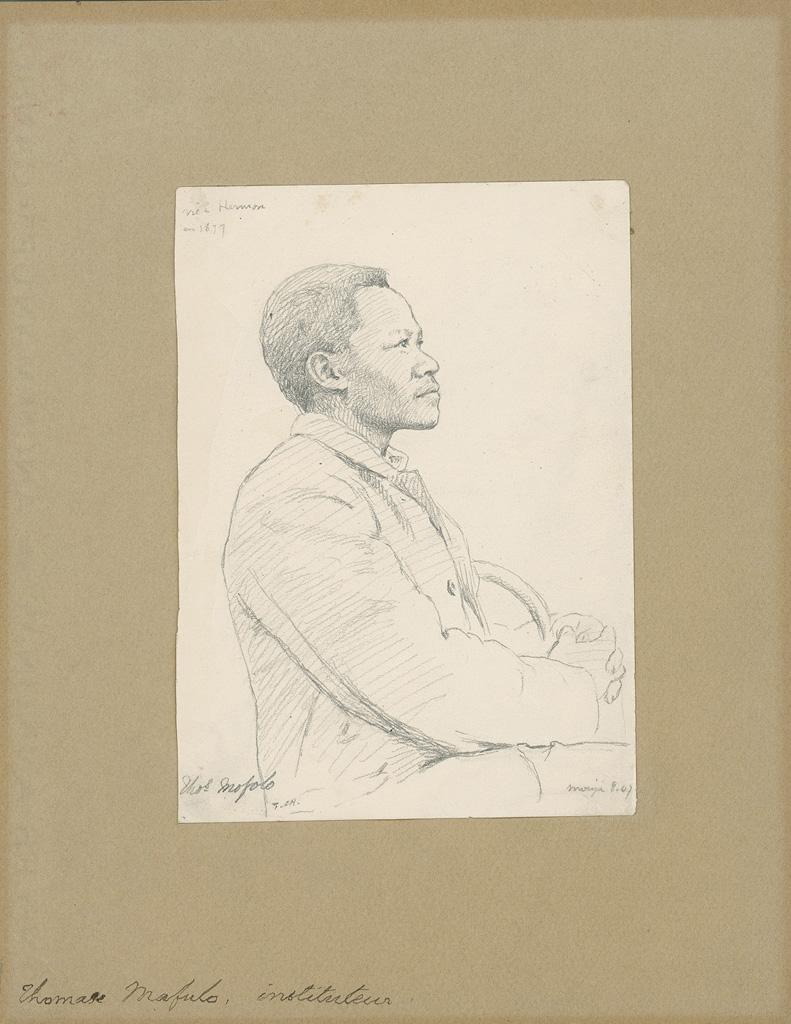 Portrait de Thomas Mofolo, instituteur / Frédéric Christol (1907-08)