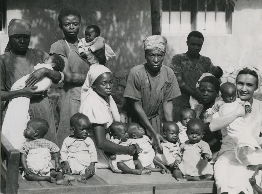 Pouponnière à Bangwa
