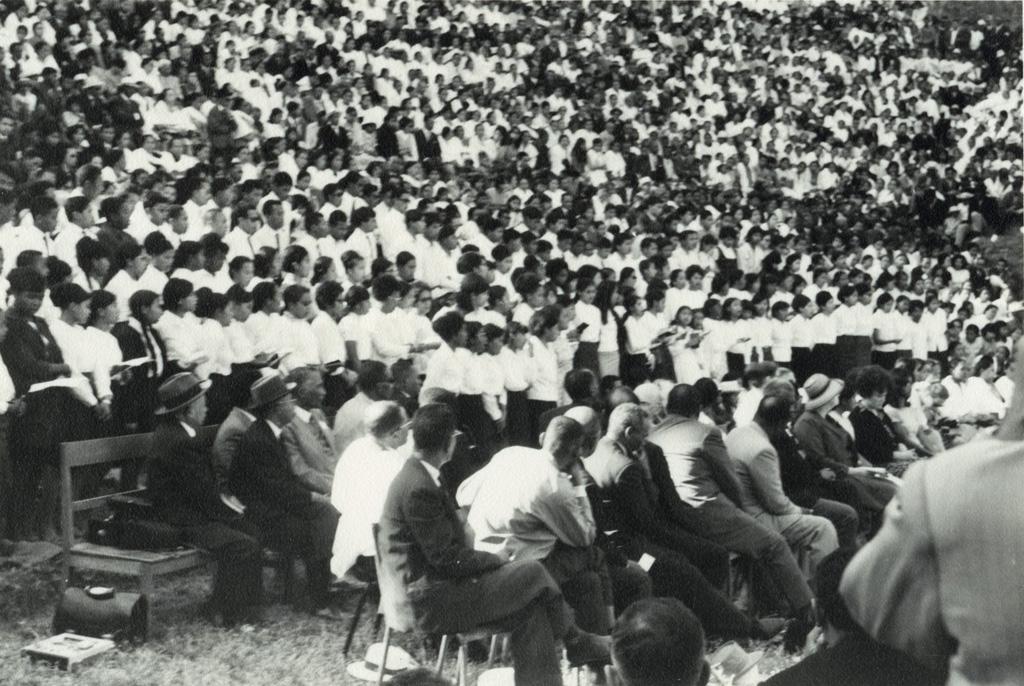 Proclamation officielle de l'Eglise Unie, la foule
