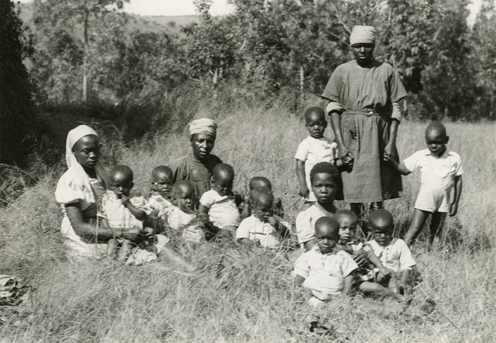 Quelques enfants de la pouponnière de Bangwa