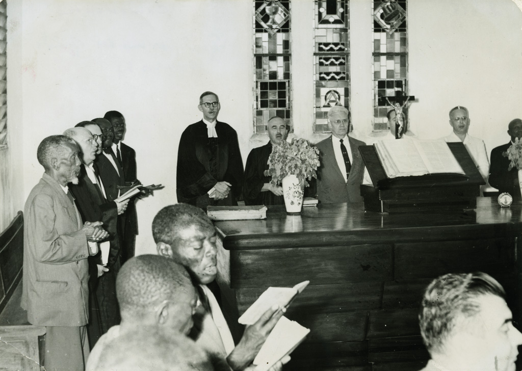 Quelques officiels de l'Eglise évangélique du Cameroon