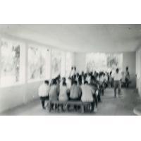 Réfectoire du collège, déjeuner