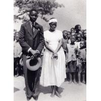 Silumeluwe et Ngambo le jour de leur mariage