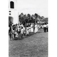 Sortie du culte matinal au temple de Chépénéhé