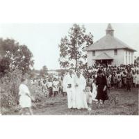 Sortie du temple après le mariage Sylv. Martin