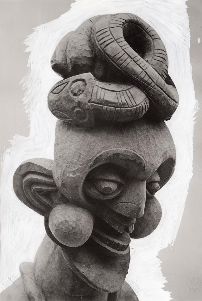 Tête sculptée, art Bamoun