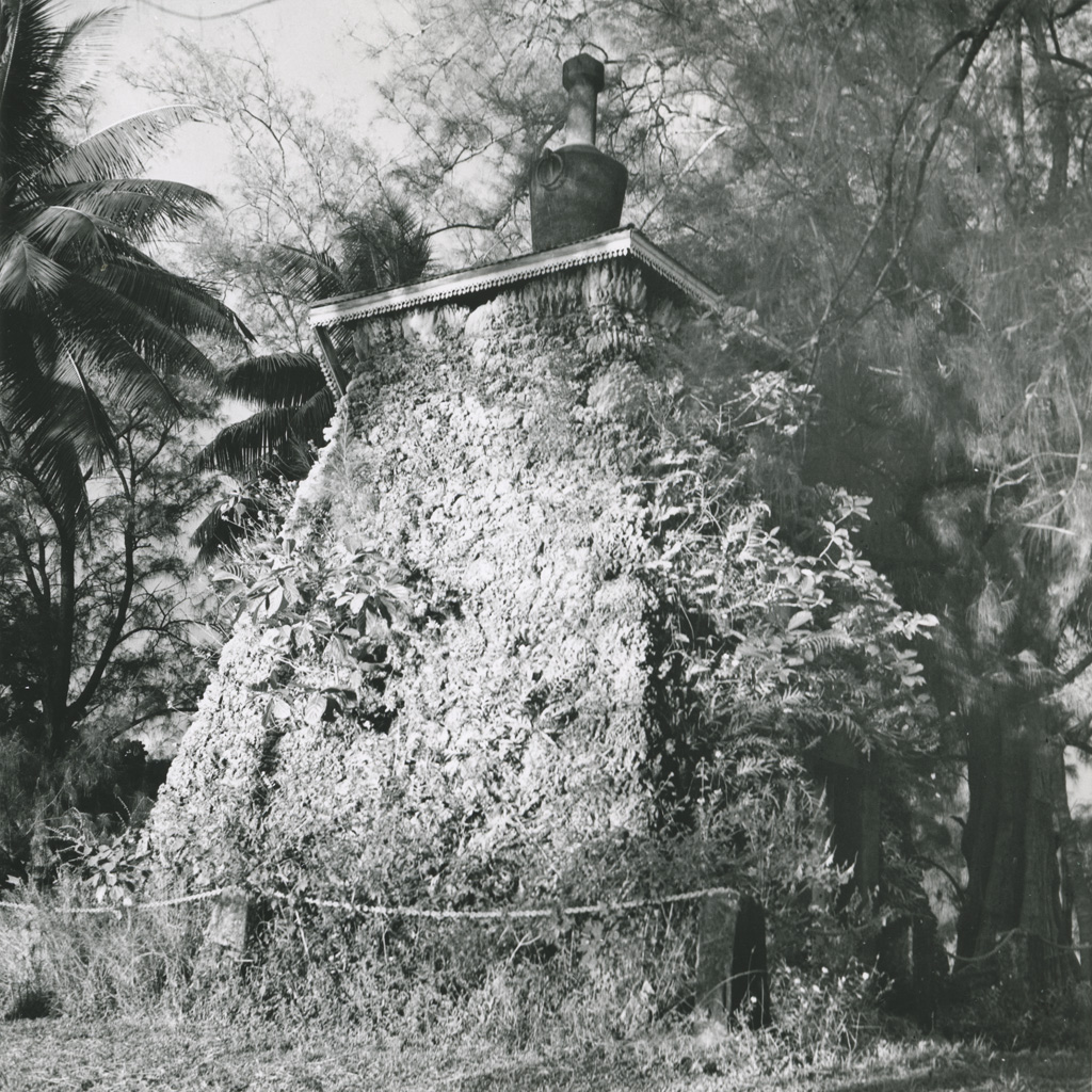 Tombeau du roi Pomare V, sur la pointe d'Arue (Tahiti)